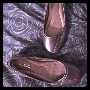 Aldo Brown Leather Flats 6.5M